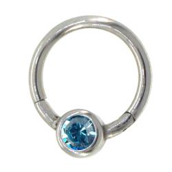 BCR clicker cristal bleu clair 1.2mm acier