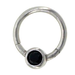 BCR clicker cristal noir 1.2mm acier