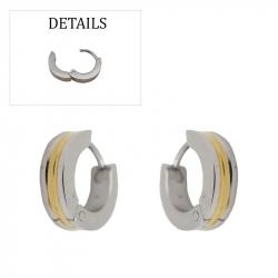 Boucles d'oreilles créoles acier and pvd gold