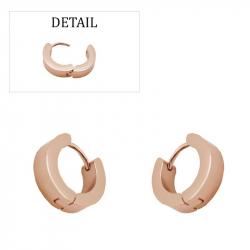 Boucles d'oreilles créoles épaisses acier pvd rose gold