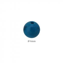Perle pierre Howlite Turquoise bleu en 6mm