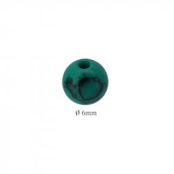 Perle pierre Howlite Turquoise Vert en 6mm