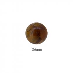 Perle pierre Oeil de tigre en 6mm