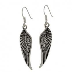 Boucles d'oreilles pendantes ailes