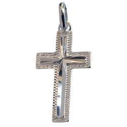 Pendentif croix argent 925 avec finition