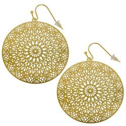 Boucles d'oreilles filigrane dorées modèle rond