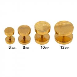 Faux plug 1.2mm en acier pvd gold