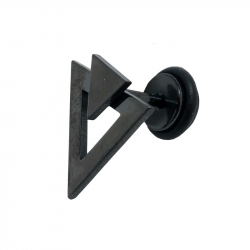 Faux plug triangle acier pvd black 1