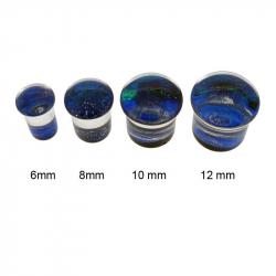 Plug en pyrex motif bleu
