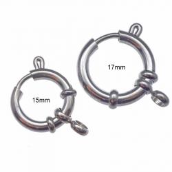 Fermoir anneau ressort en acier