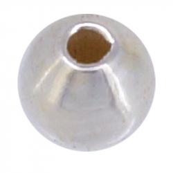 Perle ronde en argent 925