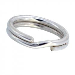 Double anneau ouvert en argent 925