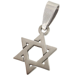 Pendentif croix de Davide en acier