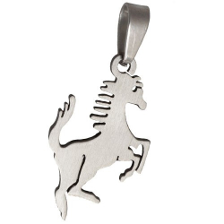 Pendentif cheval en acier