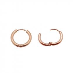 Boucles d'oreilles créoles fines pvd rose gold acier