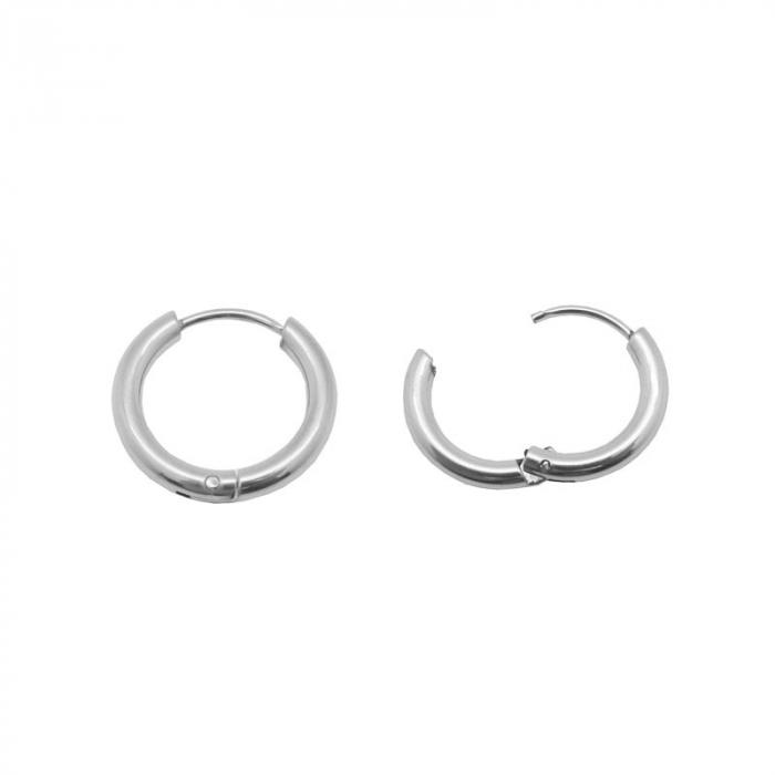 Boucles d'oreilles créoles fines acier
