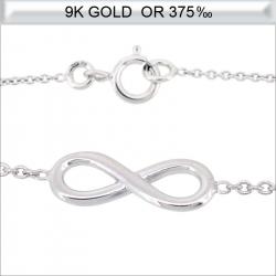 Colier en Or blanc 9 carats